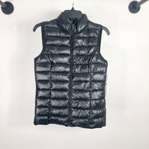 Aqua Puffer Jacket Vest Light Weight Black